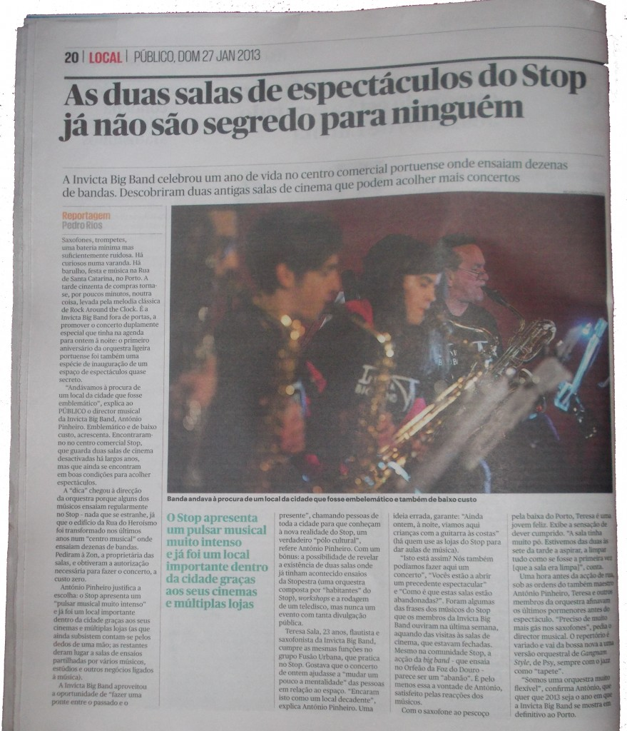 Reportagem Invicta Big Band - Publico